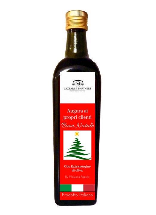 bottiglia olio regalo di natale