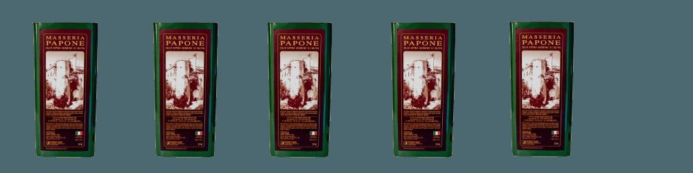 I nostri prodotti lattine di olio Masseria Papone