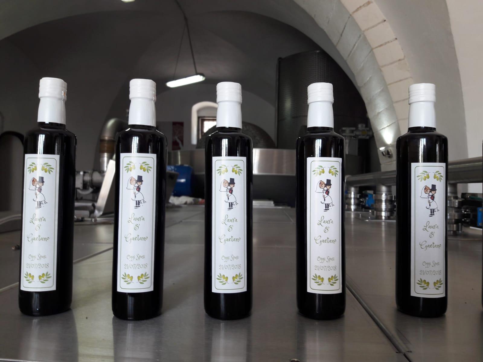 personalizzazione bottiglia olio per matrimonio