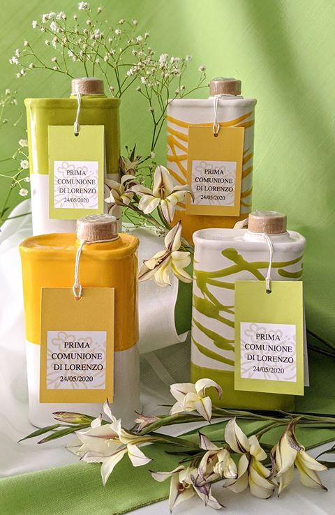 bomboniera prima comunione olio di oliva