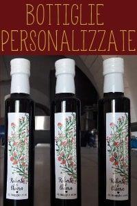 personalizzazione etichetta bottiglia olio