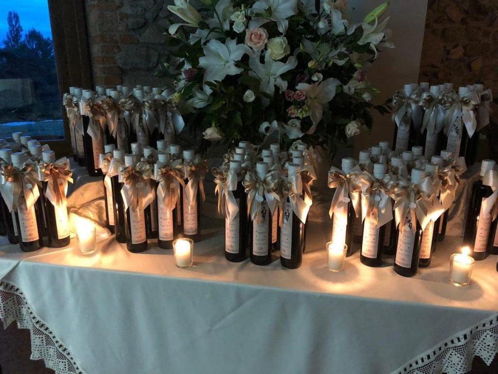 bottiglie olio matrimonio